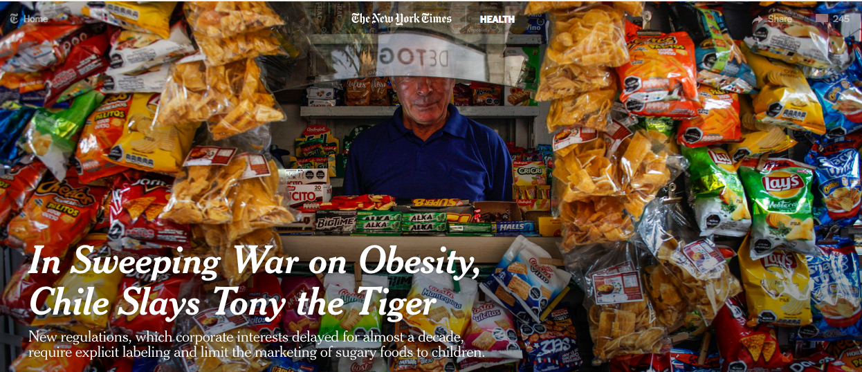 Chile Takes on Junk Food & Obesity